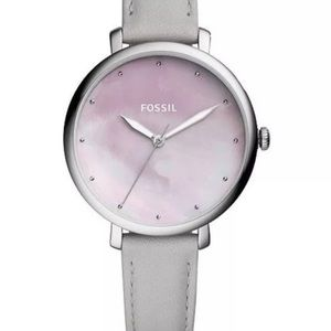 Fossil Women's Jacqueline Gray Leather Strap Watch